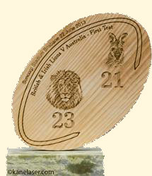 Engraved Rugby Plaque